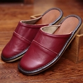 Classic Couple s Indoor Slippers Genuine Leather Solid Color Spring Slippers Anti Slip Super Soft Home