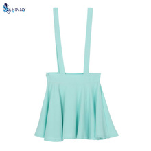 Buy Women Pleated Mini Skirt Womens Pastel Skater Flared Belt Waist Suspender Skirt for $5.00 in AliExpress store