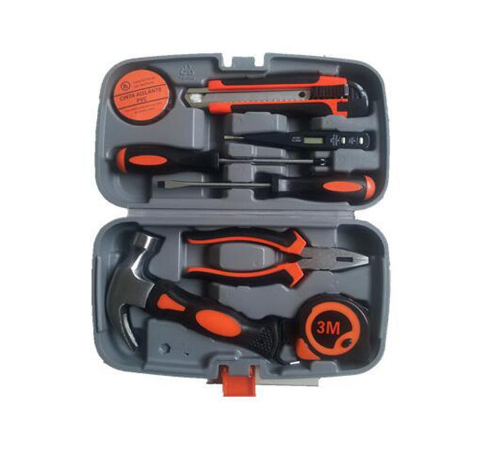 9 tools set Multifunction Household home use hand tools Combination Electrical and carpentry repair Box<br><br>Aliexpress