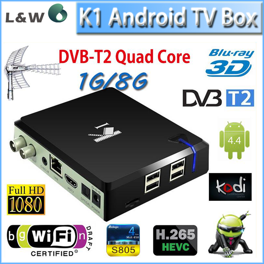 Гаджет  2015 New Brand K1 Android TV Box DVB T2 Quad Core Amlogic S805 1G/8G XBMC Smart Google TV HD WiFiPC with DVB-T2 None Бытовая электроника
