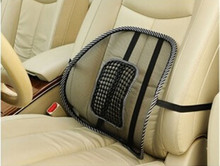 Free Shipping 2015 New Office Chair Car Seat Cover Sofa Cool Massage Cushion Lumbar Back Brace Pillow Lumbar Cushion(China (Mainland))