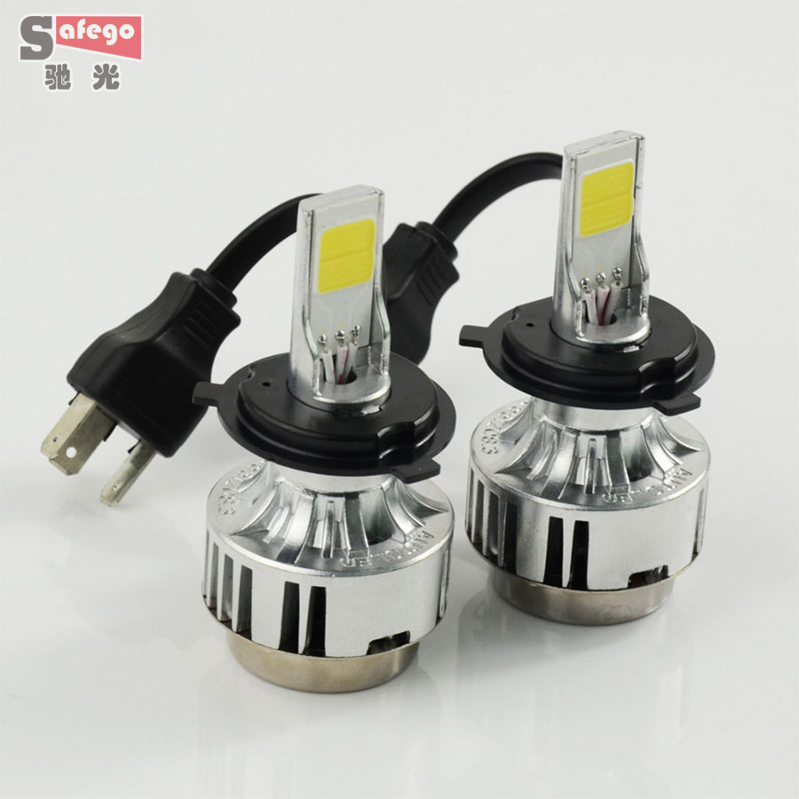 H4 66w COB H4 LED headlight bulbs 6000LM headlamp LED  headlight  FOR Universal h4 Car LED Headlight Fog light Bulbs 12v<br><br>Aliexpress