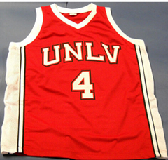 #4 Larry Johnson Unlv Runnin Rebels Stat Throwback Red Basketball Jersey Custom any Size, Name and number Stitched New Material(China (Mainland))
