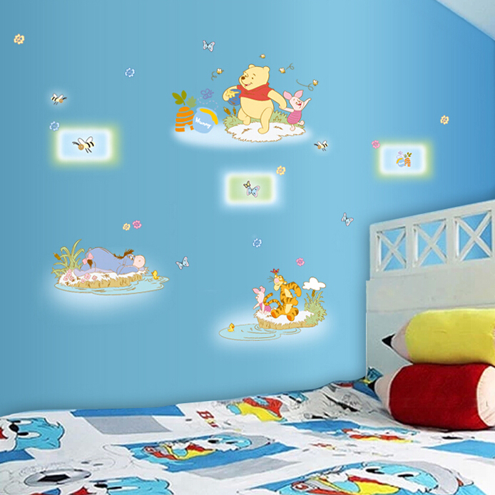 Free shipping!! New hot sale removable cartoon winnie pooh wall ...