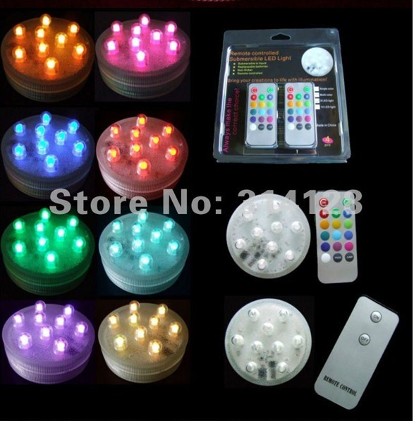 New arrinal 9LED submersible remote candle light with remote control 8pcs/lot