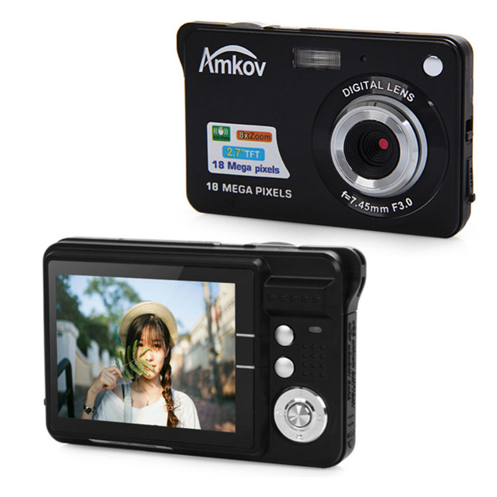 "Amkov 2.7"" TFT Digital Photo Frame CDC3 1280 * 720 HD Digital Camera 18MP 8x Zoom CMOS Image Sensor Video Recoding Camera(China (Mainland))"