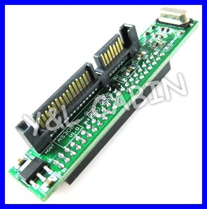 "2.5"" Inch 44 44P IDE HDD SSD Hard Drive to 7+15P 22P Serial ATA SATA Compact Adapter Converter JMICRON JM20330, Free Shipping"