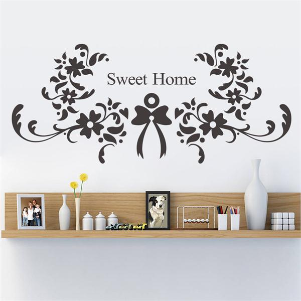 Http Www Aliexpress Com Item Christmas Decoration Flower Sweet Home Wall Sticker Quote Wall Stickers Home Decor Vinyl Wallpaper Adesivo De 32251980341 Html