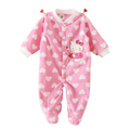 Newborn Winter Warm Baby Rompers Fleece Baby Clothing for Girls Cartoon Cotton Baby Boy Romper Roupa Infantil Next Baby Clothes