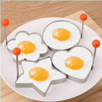 4Pcs Big Size Stainless Steel Fried Egg Pancake Mold Kitchen Cooking Tools Love Shaped Cook Fried Egg Mold Free Shipping(China (Mainland))