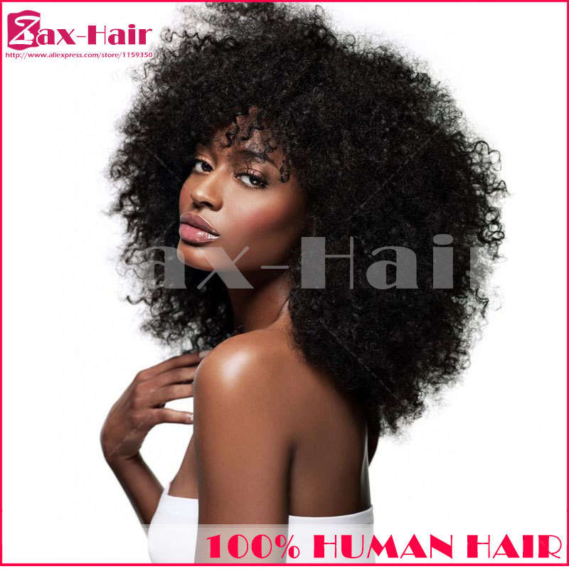 Cheap glueless full lace wigs Brazilian virgin hair wig for black women afro kinky curly lace front wig 130% denstiy 6A stocked(China (Mainland))