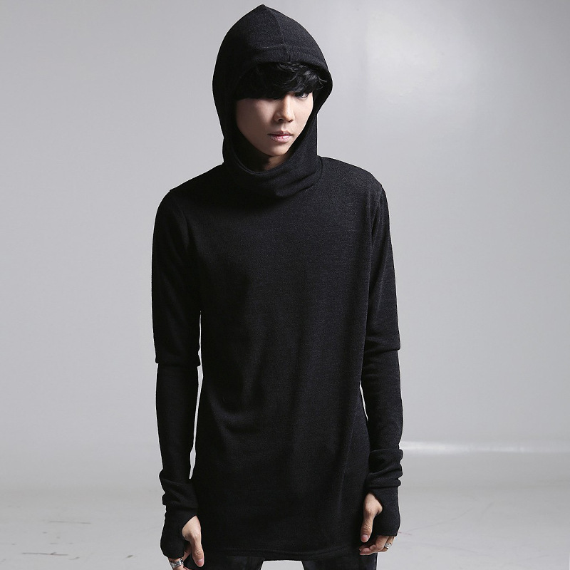 Buy 2016 autumn new men hooded t shirt for Boys long sleeve shirt with hood