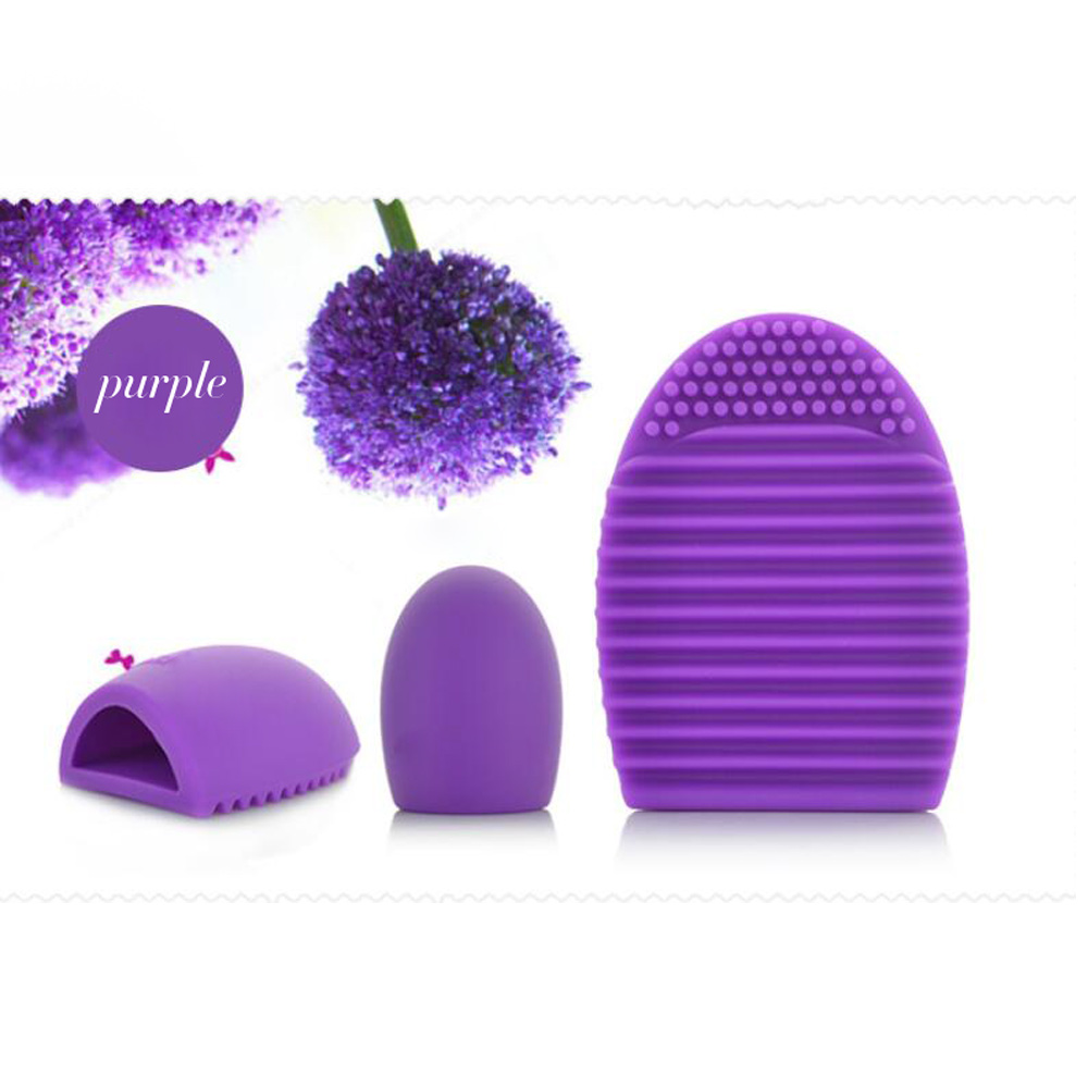 1pc Purple Brush egg Silicone Brush Cleaning Cosmetic Make up Brush Cleaner Clean Tools for mac Makeup(China (Mainland))