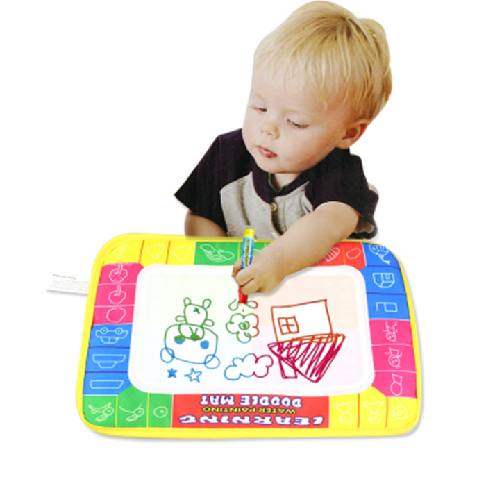Education child's toy 29X19cm Magic Water Doodle Mat with Magic Pen Aqua Doodle Child Painting Learning Coloring Writting Board(China (Mainland))
