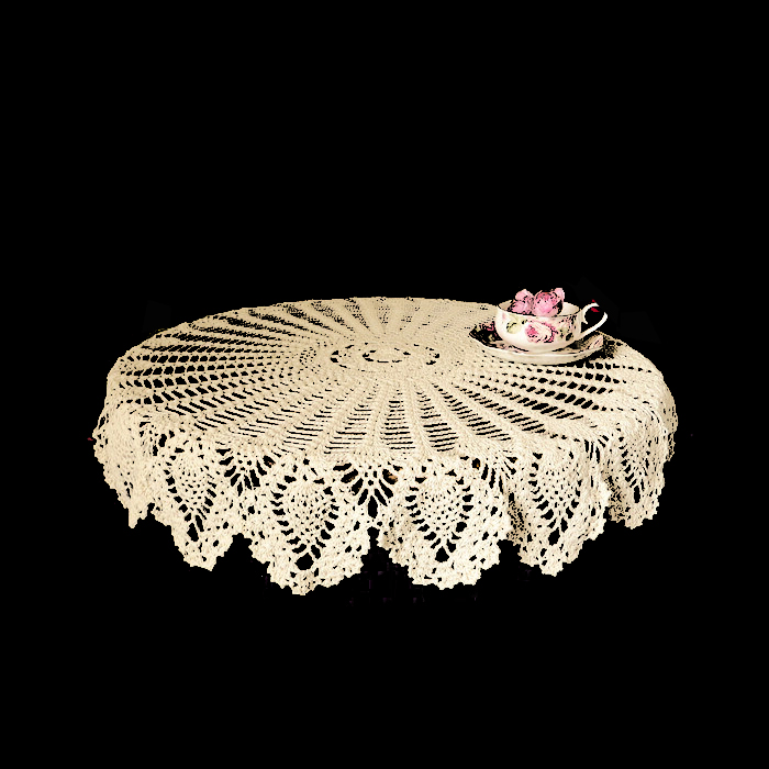 100cm / 39.37 inch Hand made Crochet Vintage Knit Retro Decorative Hook Engraving Flower Weaved/Knitted Round Tablecloth(China (Mainland))