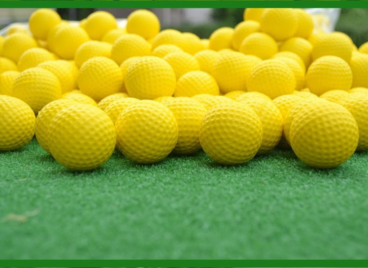 Soft Indoor Practice PU Yellow Golf Balls Training Aid Free Shipping Drop Shipping Wholesale(China (Mainland))