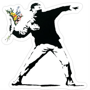 Min.order is 10(mix order)Exclusive selling BANKSY-graffiti Box stickers Waterproof Personalized laptop stickers[Single]<br><br>Aliexpress