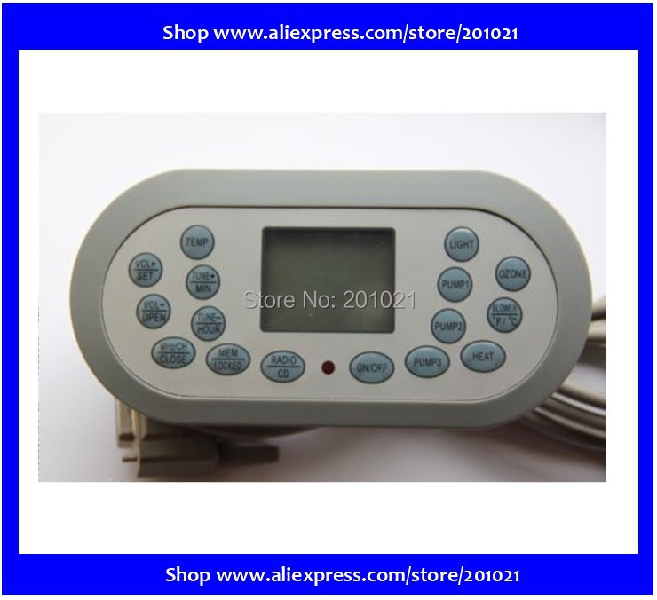 CHINA JNJ Topside Hot Tub Control Panel KL8-2 as on Spaserve Trade Price Group TCP8-2,JNJ Spa Serve display topside - Chinese(Hong Kong)