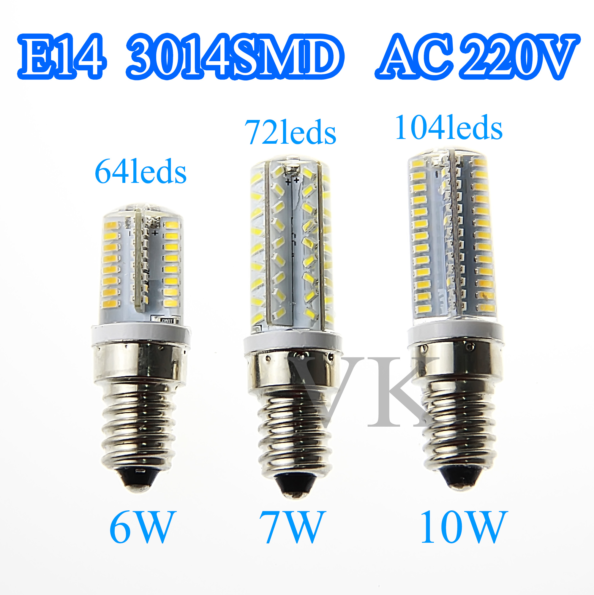 10PCS Mini E14 SMD3014 AC220V Dimmable Led Spotlight 6W7W10W Candle Ampoule Lampada High Brightness 64/72/104leds for home light<br><br>Aliexpress
