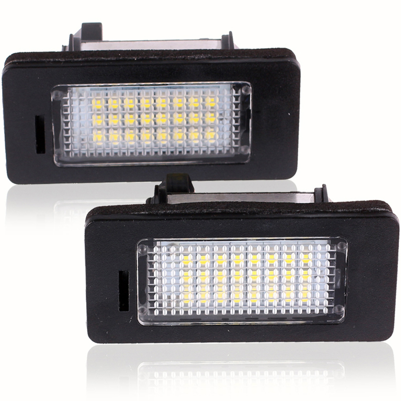 2Pcs LED License Plate Lights SMD3528 24leds Number Plate Light For BMW E82 E88 E90 E92 E93 E39 E60 Sedan M5 E70 X5 E71 E72 X6(China (Mainland))