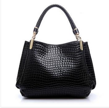 2015 Woman Black Designer Brand Leather Handbag Sac A Main De Marque Femme Shoulder Bag