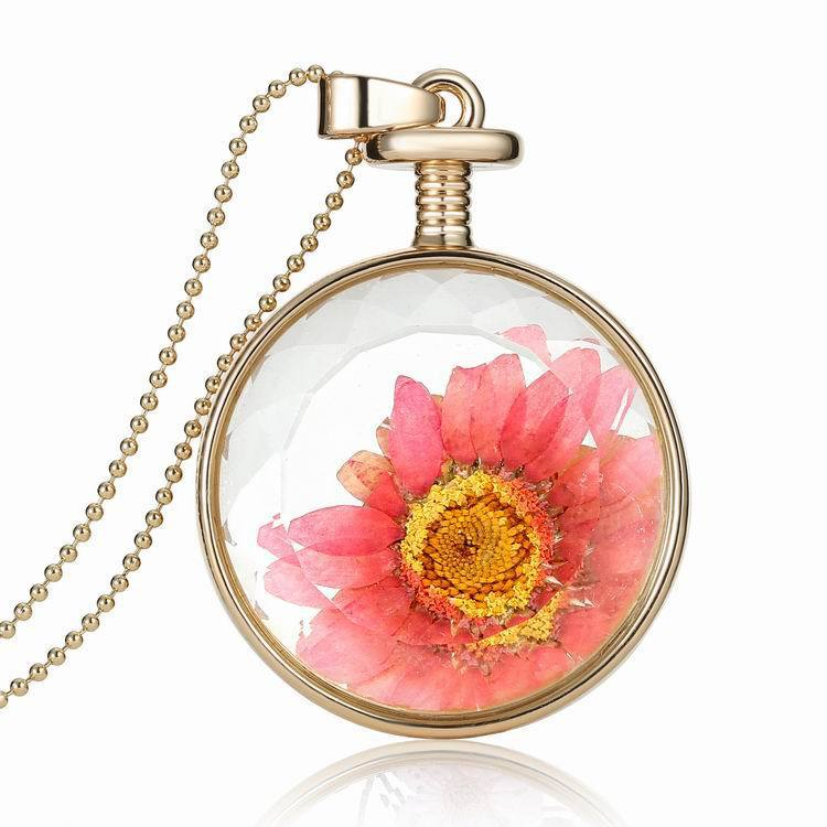 Flower Plant Floating Living Lockets Europe Memory Charms Glass DIY Findings Necklace purfume bottle Jewelry lover gift 2015 new(China (Mainland))