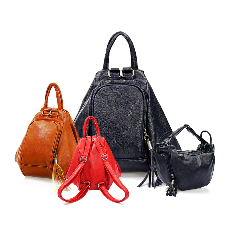 2015 New Fashion Lady Women Shoulder Bag PU Leather Hobos Handbag Bags Blue Black Red Brown - Mandy mall store
