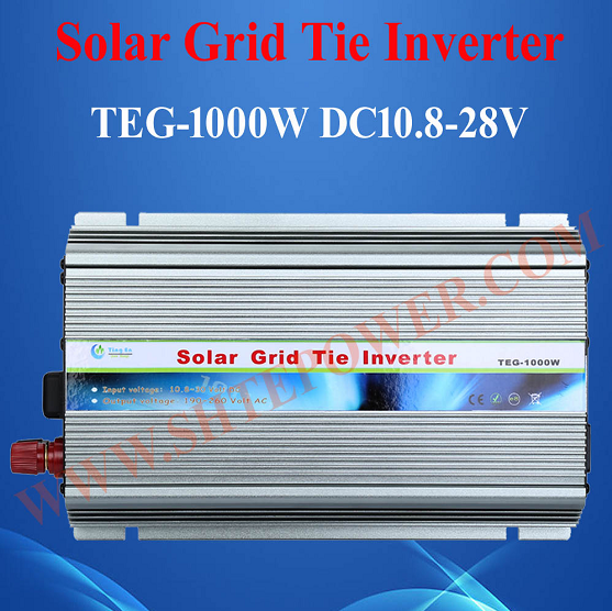 Pure Sine Wave DC 12V 16V 18V 24V Solar On Grid Tie Inverter 1000W(China (Mainland))
