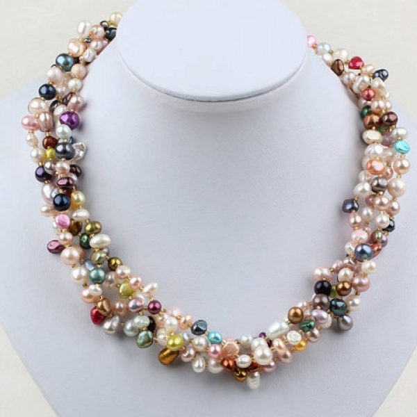 Cheap Costume Jewelry stylish Vintage Beads Freshwater Pearl Necklace for Women(China (Mainland))