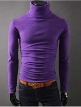 New Winter 2015 Fashion Men Pullovers Long Sleeve Male Knit Bottoming Turtle Neck Colorful Mens Sweaters 8 Colors M-XXL(China (Mainland))