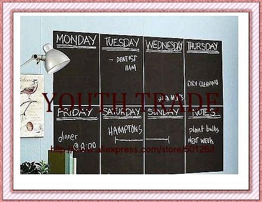 blackboard sticker ,DIY chalkboard card lovely stationery memo children gift wall sticker,40*200cm,free shipping