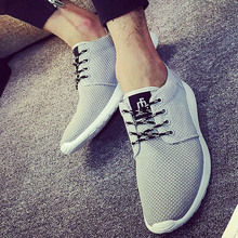 2016 New Spring and Summer Men's Casual Shoes  Flat Shoes chaussure homme Korean Breathable Air Mesh Men Shoes Zapatos Hombre
