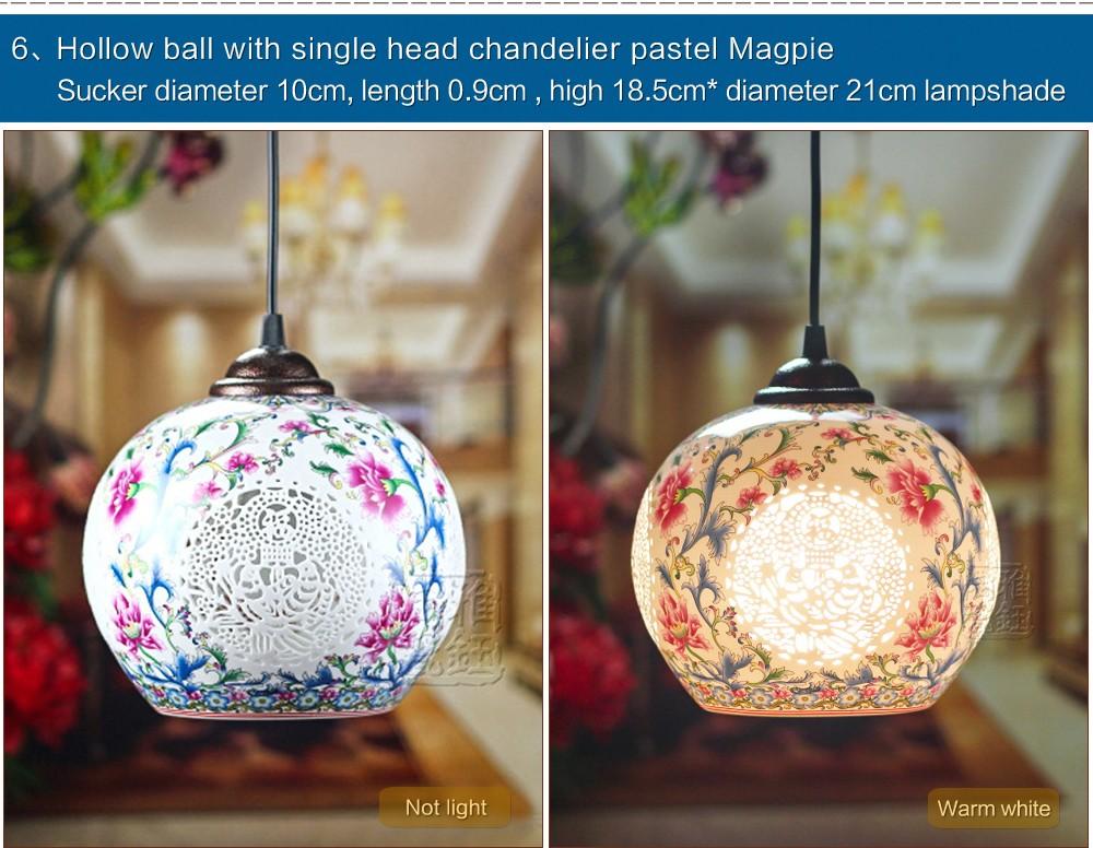 Antique Retro Ceramic Lamp Vintage Lamp Loft E27 90-260V Porcelain Pendant Lamp Indoor Lighting Dining Lighting Fixtures