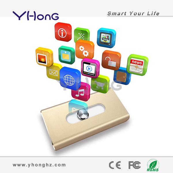 Free shipping 8GB 16GB 32GB 64GB U Disk pen drive Metal USB Flash 2.0 usb Flash Drive memory stick for iPhone6(China (Mainland))