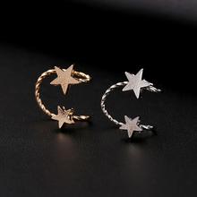 Buy ZLDYOU Fashion Girl Zinc Alloy Gold Silver Plated Ear Cuff 2 Star Piercing Jewelry Women Gifts Punk Clip Earrings for $1.69 in AliExpress store