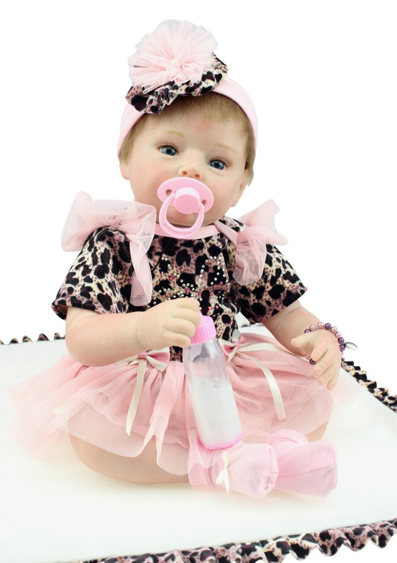 Фотография So Lovely 22 Inch NPK Silicone Newborn Baby Doll For Sale Handcraft Reborn Baby Doll For Christmas Gifts And Children Kids Toys