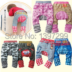 The 2014 children's clothes new comic Cowboys camouflage children trousers PP pants baby boy pants(China (Mainland))