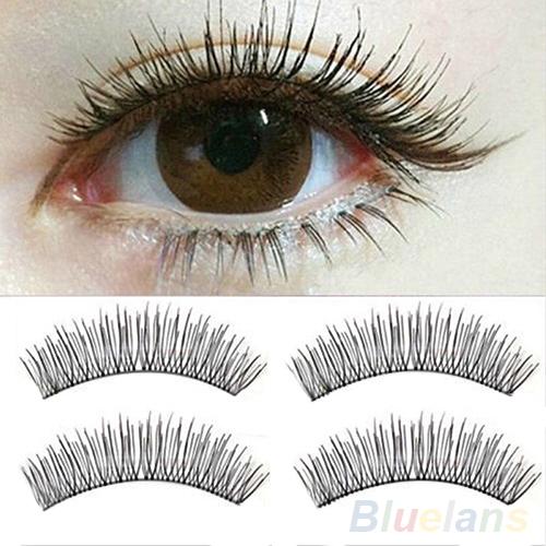 Гаджет  10 Pairs Soft Natural Cross Handmade Eye Lashes Makeup Extension False Eyelashes None Красота и здоровье