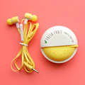 Cute Fruit Candy Colorful Earphones 3 5mm in ear with Microphone for Phone Lenovo Xiaomi Girls