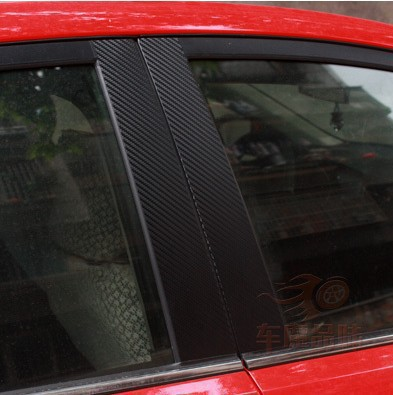 Carbon fiber protection stickers protect KIA RIO central window special vehicle use  -  Leo-po store