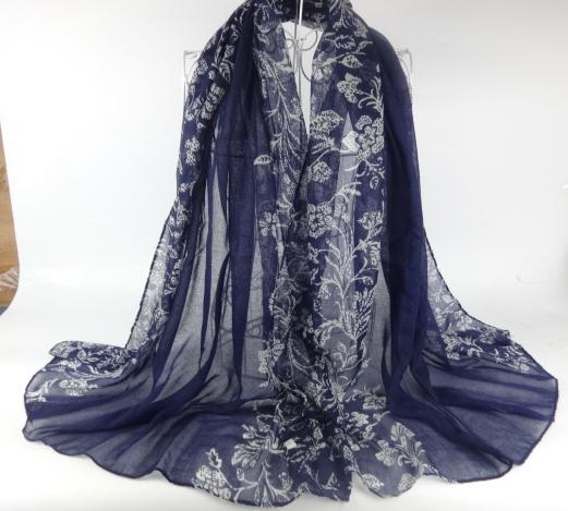 Soft feel Muslim Head Scarf Floral Print Viscose Scarfs Shawl Muslim Hijab Scarf Women Scarves China