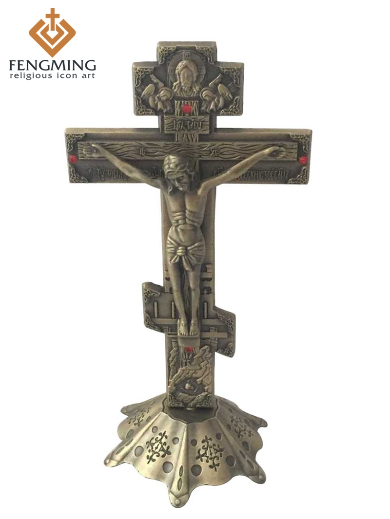 product  Vintage Catholic Christian metal Religious Jesus Christ Spiritual Crucifix Cross christian religious gifts household articles