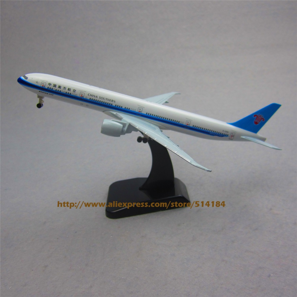 19cm Metal Plane Model Air China Southern Airlines B777 300ER Airplane Model Boeing 777 Airways w Wheels Stand Aircraft Toy Gift(China (Mainland))