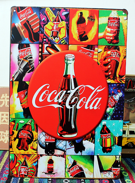 Cola drinks Metal Signs Plaque Room Decor Vintage Wall art Craft 20*30 CM Mix Items B-393 Free Shipping(China (Mainland))