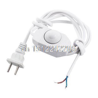 White 1.8Meter Lamp Power Cord Swivel Dimmer Switch AC 250V/110V US Plug(China (Mainland))