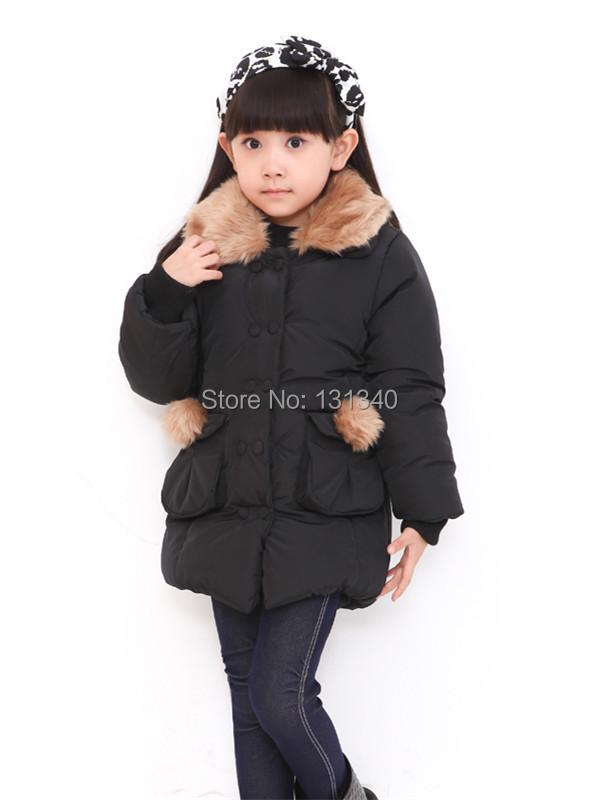2014 Korean Retail girls winter coat thicker Fleece cotton pocket jacket children - Baby Star Family store
