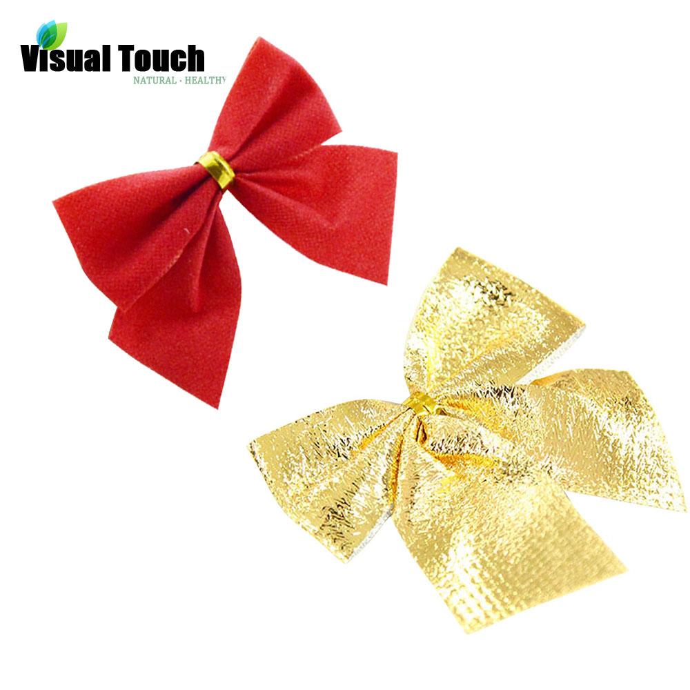Rose christmas ornament - Hot Marketing 12pcs Pack Christmas Tree Ornaments Xmas Bowknot Tree Hanging Decoration Rose Gold