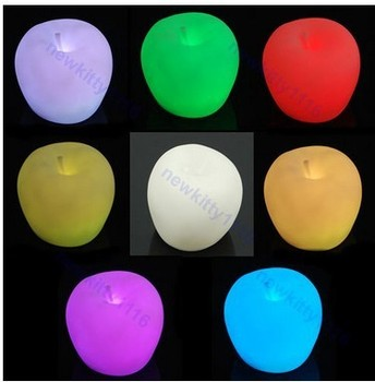 Romantic 7 Colors Changing Apple LED Night Light Decoration Candle Lamp Night light,Novelty great gift