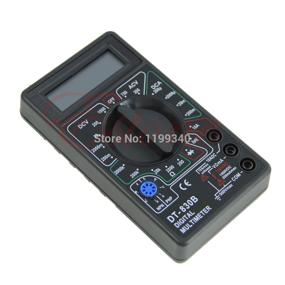 A25 hot selling Ammeter Handheld Voltmeter Mini Portable Tester Ohmmeter LCD Digital Multimeter free shipping