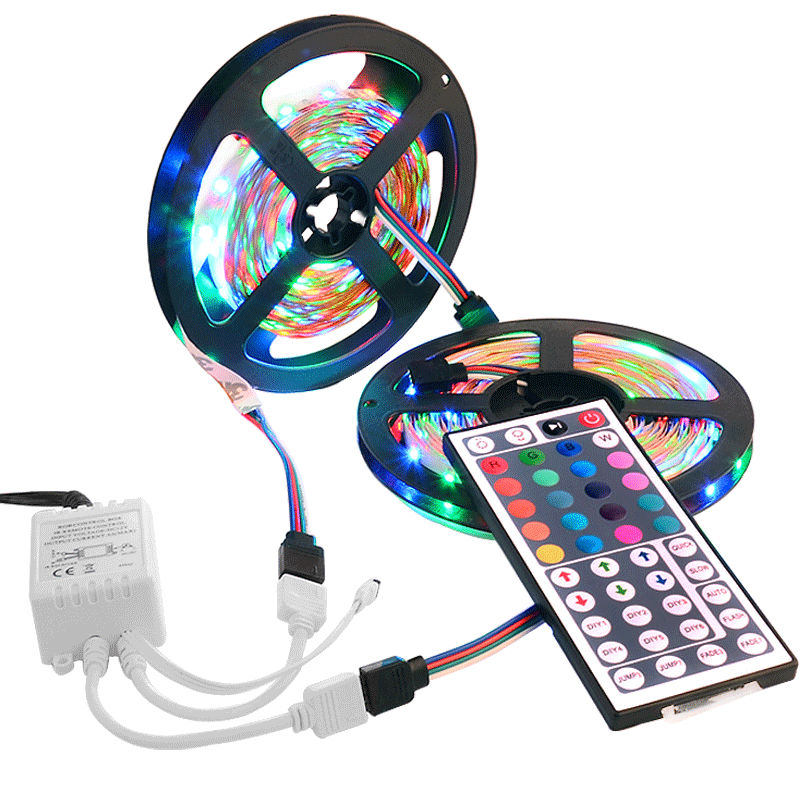 light with 44 keys remote control rs36 in led strips from lights. Black Bedroom Furniture Sets. Home Design Ideas